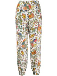 Tory Burch Floral Print Cropped Trousers 60