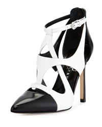 Ivanka Trump Chatty Strappy Pump Black White