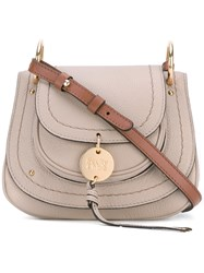 See By Chloe 'Saddle' Crossbody Bag Women Leather One Size Grey