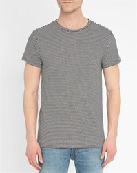 Bill Tornade Black And White Jordy Striped Round Neck T Shirt