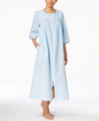 Miss Elaine Embroidered And Pleated Robe