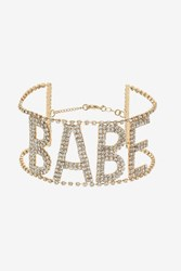 Topshop 'Babe' Rhinestone Choker Necklace Clear