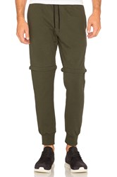 Cahill Empire Zip Off Jogger Olive