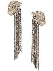 Ermanno Scervino Long Chain Earrings Silver