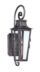 Troy Lighting Parisian Square Outdoor Wall Light Brown