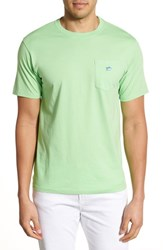 Men's Southern Tide Embroidered Pocket T Shirt Summer Green