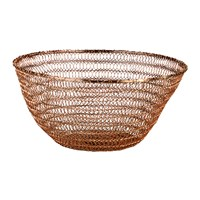 Pols Potten Wire Knitted Bowl Copper Deep