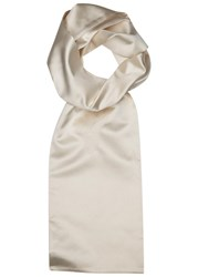 Corneliani Ivory Silk Scarf Cream