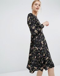 Paisie Knee Length Smock Dress In Floral Multi
