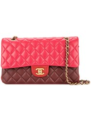 Chanel Vintage Double Flap Chain Bag Red