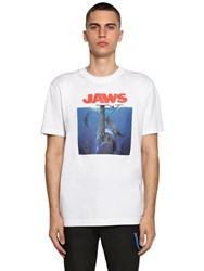 Calvin Klein 205W39nyc Printed Cotton Jersey T Shirt White