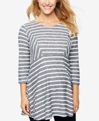 A Pea In The Pod Maternity Striped Babydoll Top