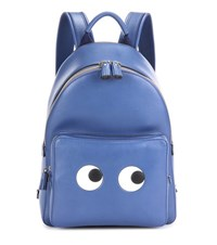 Anya Hindmarch Eyes Right Mini Leather Backpack Blue