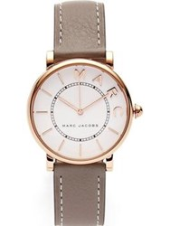 Marc Jacobs The Roxy 36Mm Satin Finish Dial Leather Watch Stone