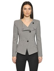 Emporio Armani Houndstooth Viscose Blend Jacket