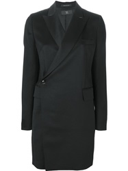 Y's Single Button Coat Black