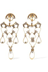 Erickson Beamon Geometry One Gold Plated Swarovski Crystal Earrings