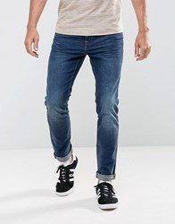 Tom Tailor Skinny Jeans With Wash Blue