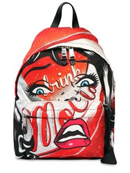 Moschino Eyes Faux Leather Backpack Multicolor