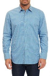 Robert Graham Men's Neel Sport Shirt Teal