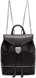 Alexander Mcqueen Black Leather Small Backpack