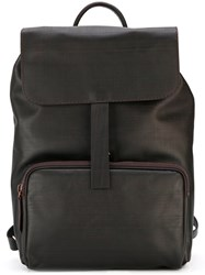 Zanellato Hook Detail Backpack Brown