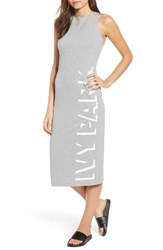 Ivy Park Shadow Logo Dress Grey Marl