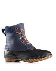 Sorel Cheyanne Leather Lace Up Boots Blue