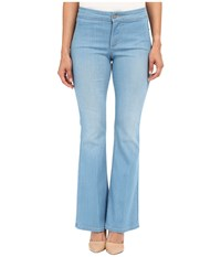 Nydj Petite Petite Farrah Flare In Palm Bay Crease Palm Bay Crease Women's Jeans Blue