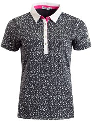 Green Lamb Frances Printed Polo Navy