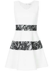 Guild Prime Lace Panel Flared Mini Dress White