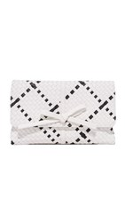 Deux Lux Barrow Clutch White Black