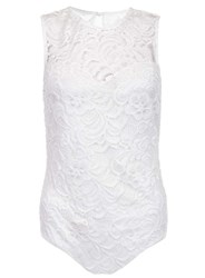 Dorothy Perkins Quiz Cream Lace Sweetheart Body