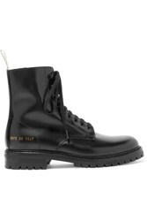Common Projects Combat Leather Ankle Boots Black