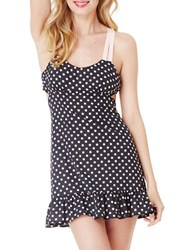Betsey Johnson Polka Dotted Slip Nightdress