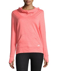 Marika Tek Pounce Cowl Neck Hooded Jacket Heather Hot Coral