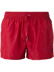 Dolce And Gabbana Short Swimming Trunks Red