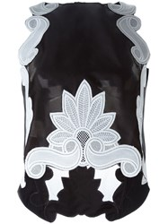 Antonio Berardi Appliqua Sheer Tank Top Black