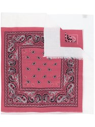 Destin Embroidered Scarf Pink And Purple