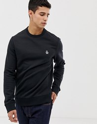 Original Penguin Icon Logo Sweatshirt In Black True Black