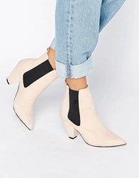 Asos Reachless Chelsea Ankle Boots Nude Micro Beige