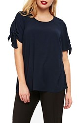 Evans Plus Size Women's Tie Sleeve Top