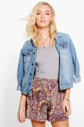 Boohoo Multi Paisley Print Flippy Shorts Multi