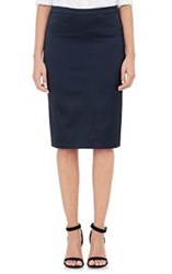 Atm Anthony Thomas Melillo Satin Tuxedo Pencil Skirt Blue Size 4 Us