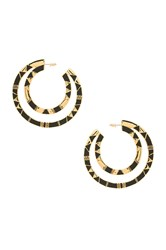 House Of Harlow Nelli Large Hoop Earring Metallic Gold