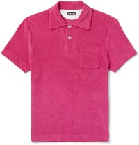 Tom Ford Cotton Terry Polo Shirt Pink