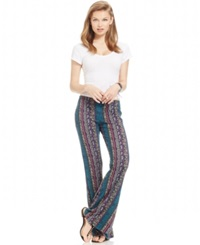 Hip H.I.P. Juniors' Flare Leg Soft Pants Teal Magenta