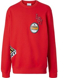 Burberry Patches Sweatshirt Red
