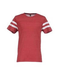 Alternative Earth Short Sleeve T Shirts Brick Red