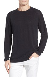 French Connection Men's Arambol Cotton And Linen Sweater Marine Blue